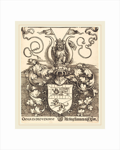 Coat of Arms of Lorenz Staiber, probably 1520-1521 by Albrecht Dürer