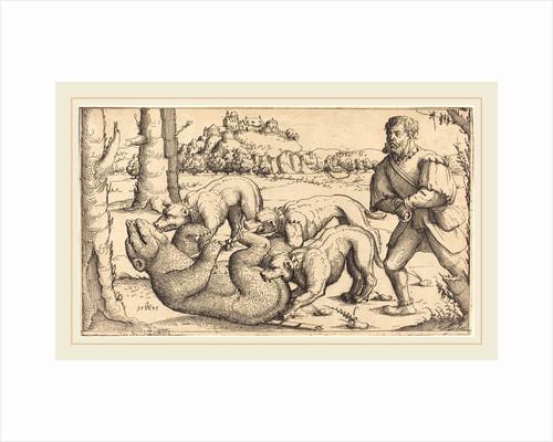 Bear Hunt, 1545 by Augustin Hirschvogel