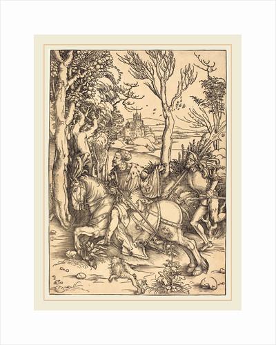 The Knight on Horseback and the Lansquenet by Albrecht Dürer