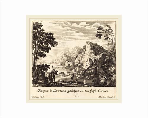 Istria, Carnero Gulf, 1681 by Melchior Küsel