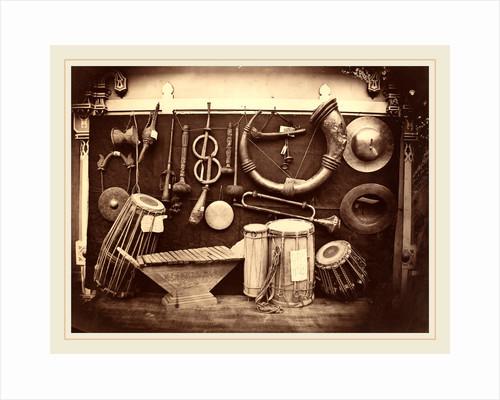 Still Life of Musical Instruments, c. 1863 by Edmond Lebel