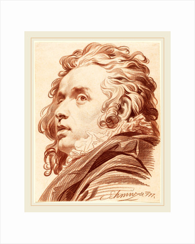 A Young Man with Flowing Hair, 1777 by Jacob Matthias Schmutzer