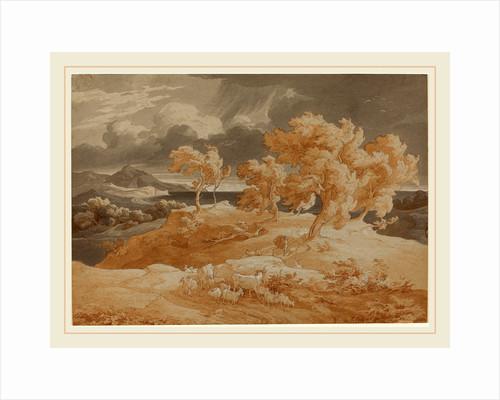 Italian Coastal Landscape with a Thunderstorm by Friedrich Preller the Elder