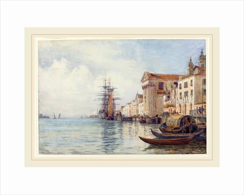 The Giudecca Canal with Shipping near the Chiesa dei Gesuati, 1880s by David Law