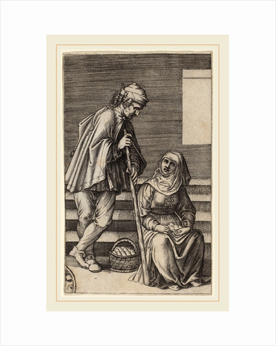 Peasant and Egg Woman by Agostino dei Musi