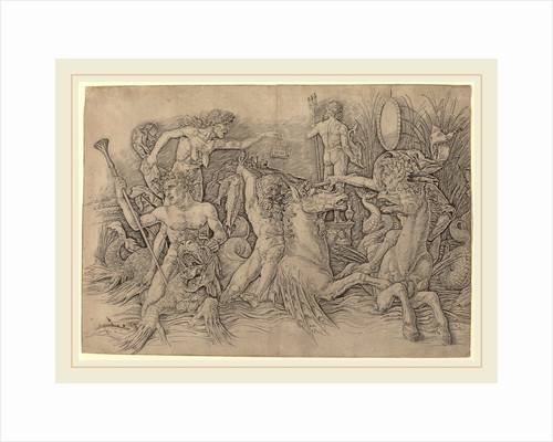 Battle of the Sea Gods left half by Andrea Mantegna