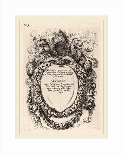 Title Page for Nouvelles inventions de Cartouches, 1647 by Stefano Della Bella