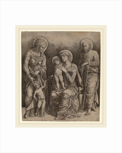 Holy Family with Saint Elizabeth and the Infant Saint John by Giovanni Antonio da Brescia