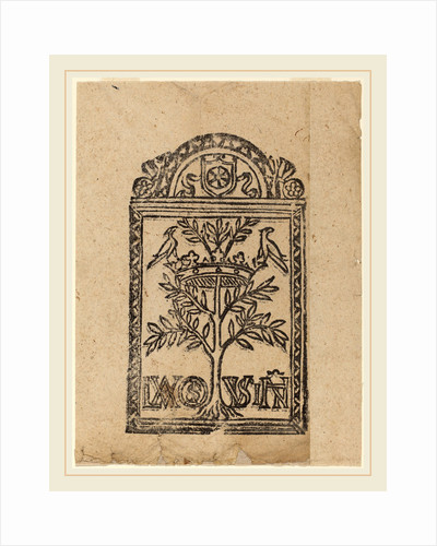 Tree with Crown and Two Birds, 16th century by Anonymous