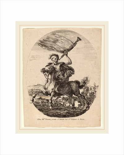 Death of Horseback, probably 1648 by Stefano Della Bella