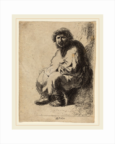 Beggar Seated on a Bank by Costantino Cumano