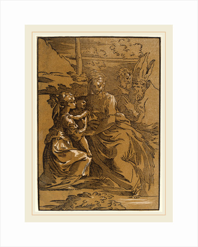 The Holy Family with Two Saints by Antonio da Trento