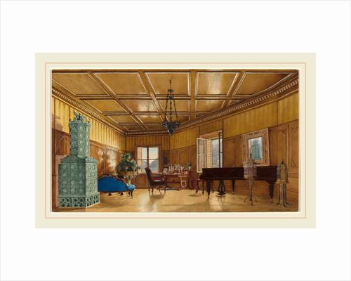 The Music Room of Archduchess Margarete, Princess of Saxony, in Schloss Ambras, 1870s by Heinrich von Förster
