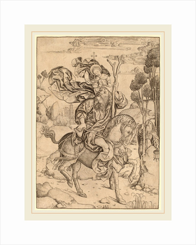 Saint Christopher on Horseback, c. 1490 by Master I.A.M. of Zwolle