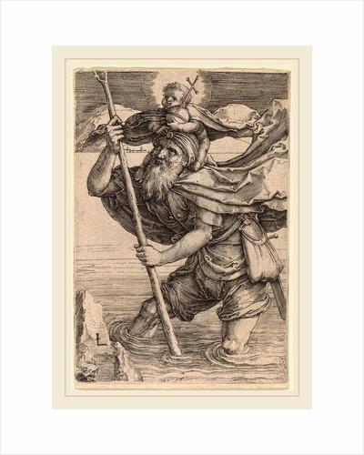 Saint Christopher Carrying the Infant Christ, c. 1521 by Lucas van Leyden