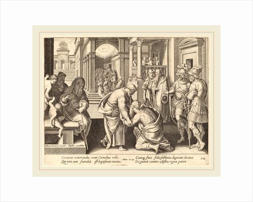 Cornelius Worshipping Saint Peter by Philip Galle