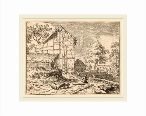 Cottage with Two Ladders by Allart van Everdingen
