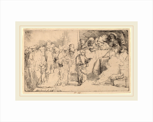 Christ Disputing with the Doctors: a Sketch, 1652 by Rembrandt van Rijn