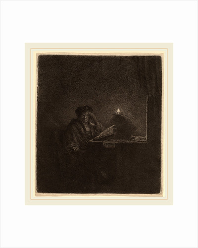 Student at a Table by Candlelight, c. 1642 by Rembrandt van Rijn