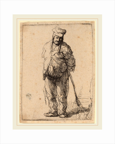 Ragged Peasant with His Hands behind Him, Holding a Stick, c. 1630 by Rembrandt van Rijn