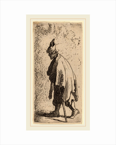 Beggar with a Stick, Walking to the Left, 1631 by Studio of Rembrandt van Rijn