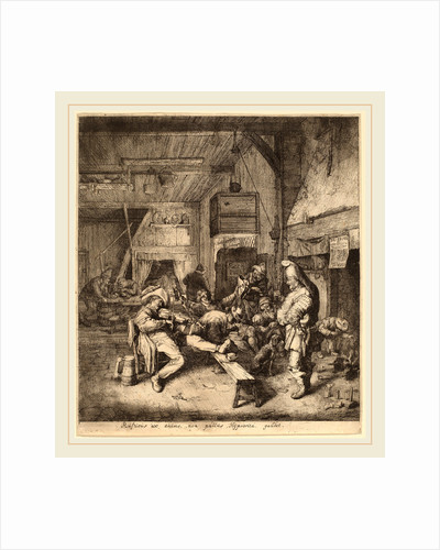 Violin Player Seated in a Tavern, 1685 by Cornelis Dusart