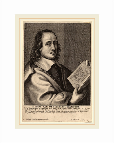 Henry van der Borcht, Painter, 1648 by Wenceslaus Hollar