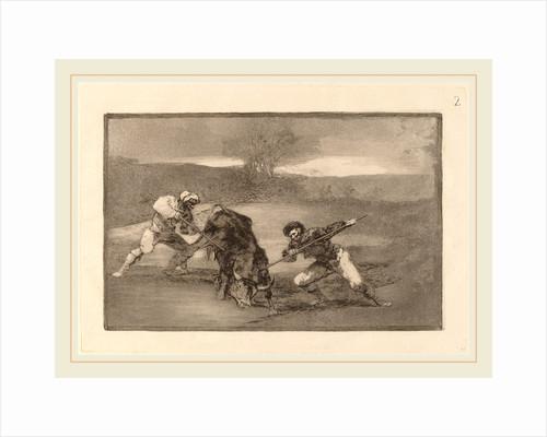 Otro modo de cazar a pie by Francisco de Goya
