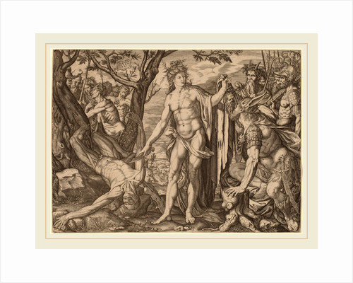 Apollo and Marsyas, Swiss by Melchior Meier