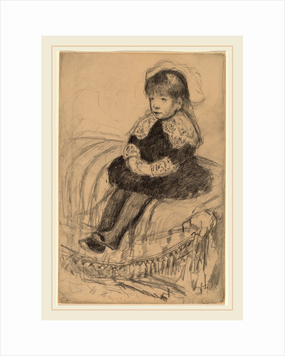 Child Seated on a Sofa by Mary Cassatt