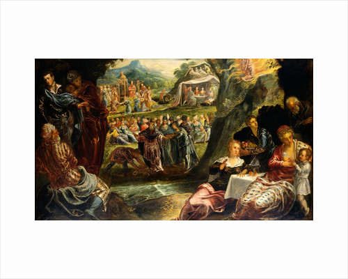The Worship of the Golden Calf by Jacopo Tintoretto
