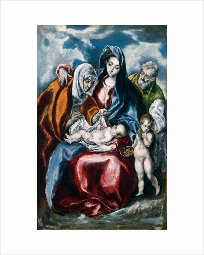 The Holy Family with Saint Anne and the Infant John the Baptist, Greek by El Greco