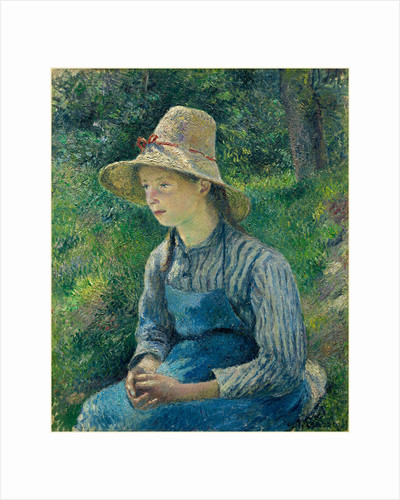 Peasant Girl with a Straw Hat, 1881 by Camille Pissarro