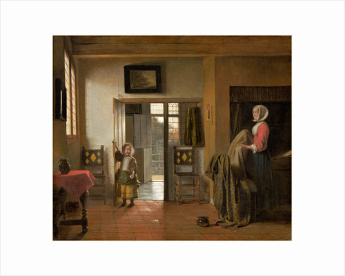 Dutch, The Bedroom by Pieter de Hooch