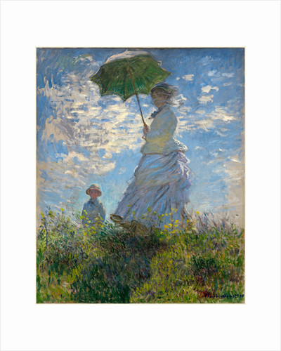 Woman with a Parasol-Madame Monet and Her Son, 1875 by Claude Monet