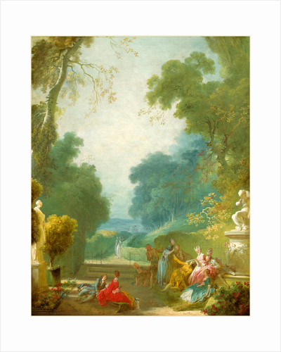A Game of Hot Cockles by Jean-Honoré Fragonard