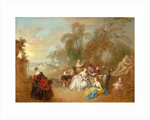 On the Terrace by Jean-Baptiste Joseph Pater