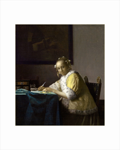 Dutch, A Lady Writing, c. 1665 by Johannes Vermeer