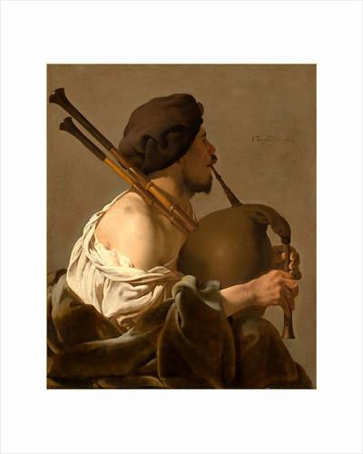 Dutch, Bagpipe Player, 1624 by Hendrick ter Brugghen
