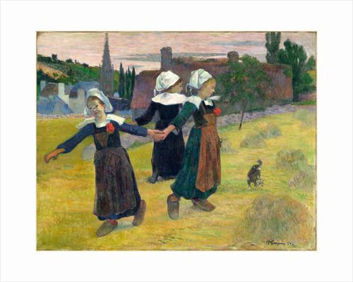 Breton Girls Dancing, Pont-Aven, 1888 by Paul Gauguin