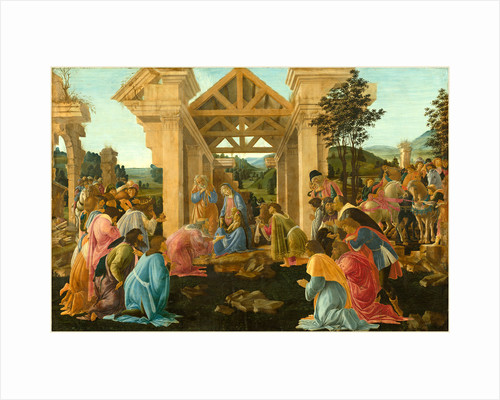 Italian, The Adoration of the Magi, tempera and oil on panel by Sandro Botticelli