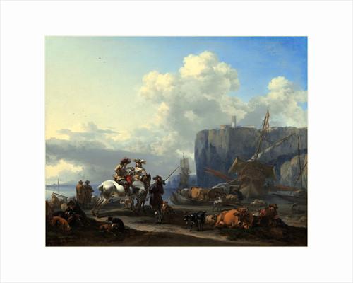 Dutch, View of an Italian Port, early 1660s by Nicolaes Pietersz Berchem