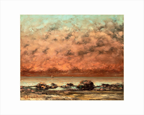 The Black Rocks at Trouville by Gustave Courbet