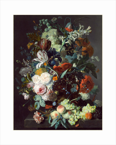 Dutch, Still Life with Flowers and Fruit, c. 1715 by Jan van Huysum