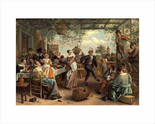 Dutch, The Dancing Couple, 1663 by Jan Steen