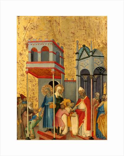 Italian, Joachim and the Beggars, c. 1400 by Andrea di Bartolo