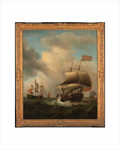 Shipping in a Choppy Sea by Samuel Scott