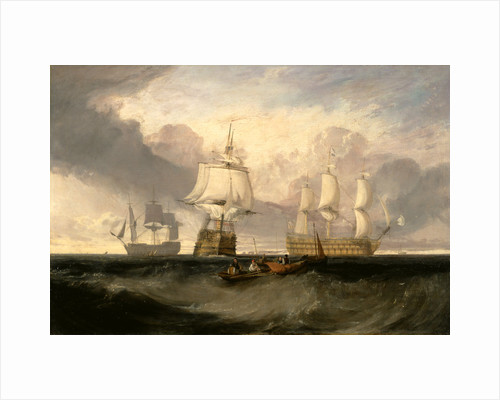 The Victory Returning from Trafalgar, in Three Positions The 'Victory' returning from Trafalgar Inscription lower right, illegible. by Joseph Mallord William Turner