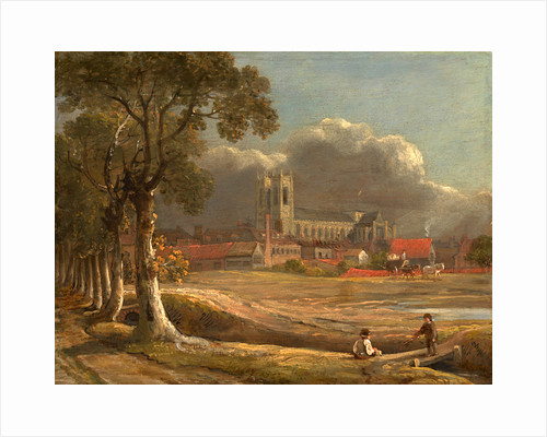 Westminster Abbey from Tothill Fields London by John Varley