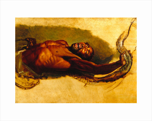 Man Struggling with a Boa Constrictor, Study for 'Liboya Serpent Seizing its Prey' Study of a Negro Struggling with a Boa Constrictor for 'A Boa Serpent Seizing a Horse' by James Ward